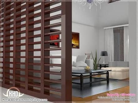 Living Room And Dining Room Partition Designs In Kerala