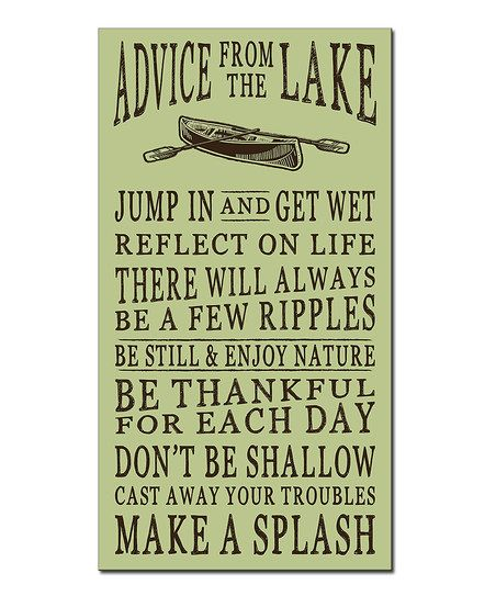 My Word! Advice from the Lake Wall Sign | zulily | Cricut ...
