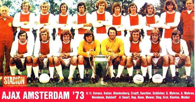 Ajax De ámsterdam Campeón De Europa 1972 73 Equipo De Fútbol Ajax De ámsterdam Fotos Del Equipo De Fútbol