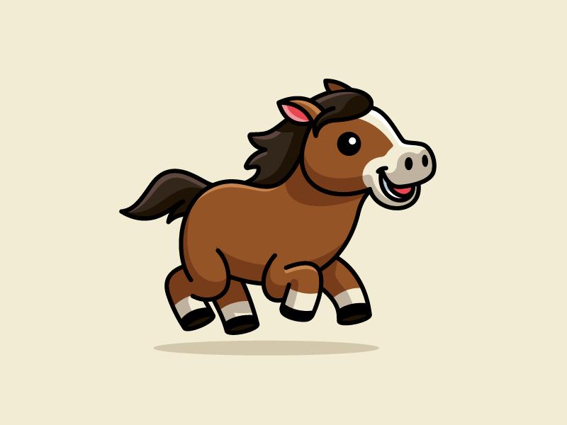 Running Horse Horse Cartoon Cute Cartoon Drawings Horse Cartoon Drawing