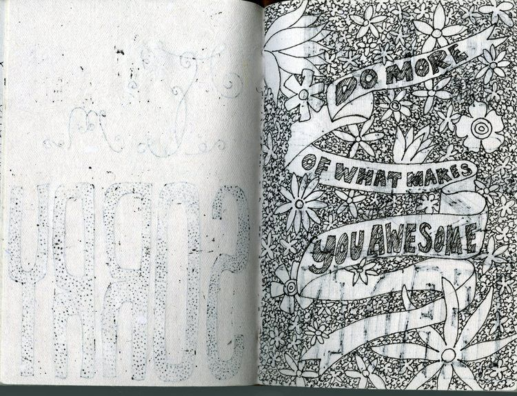 from miss Cara Ray's sketchbook!