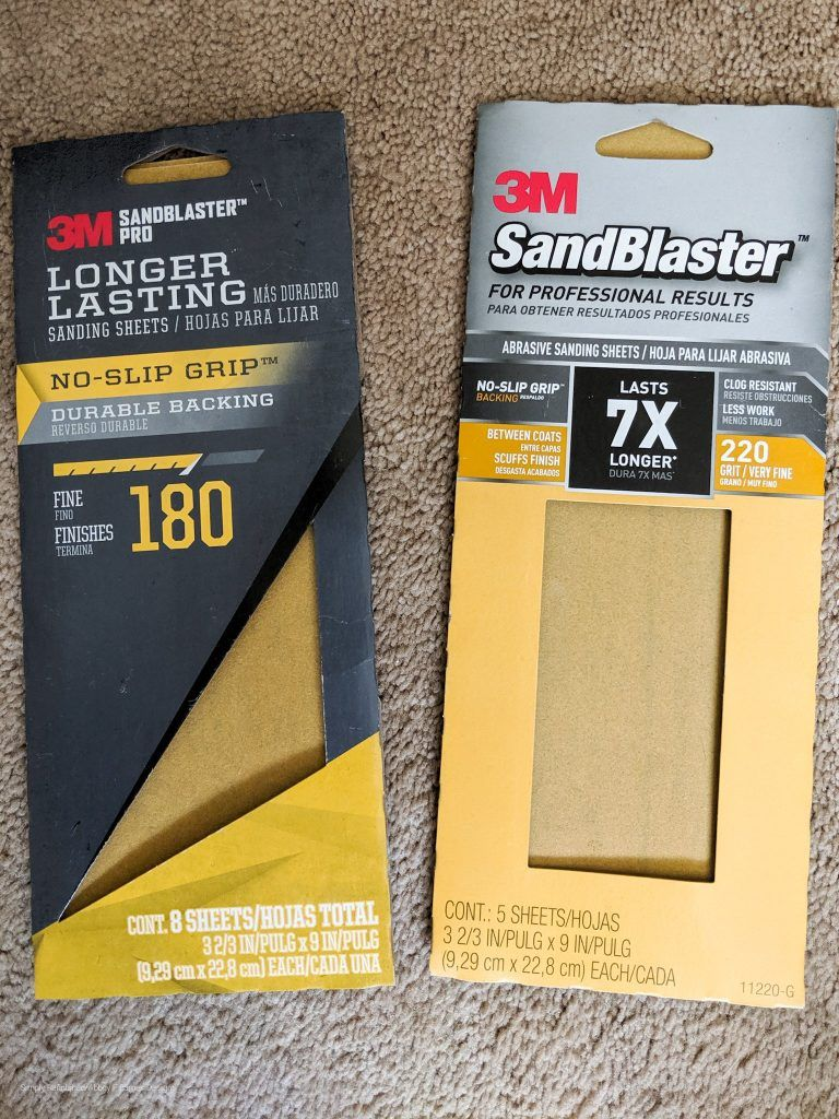 Hand sanding products for a smooth finish chalk paint