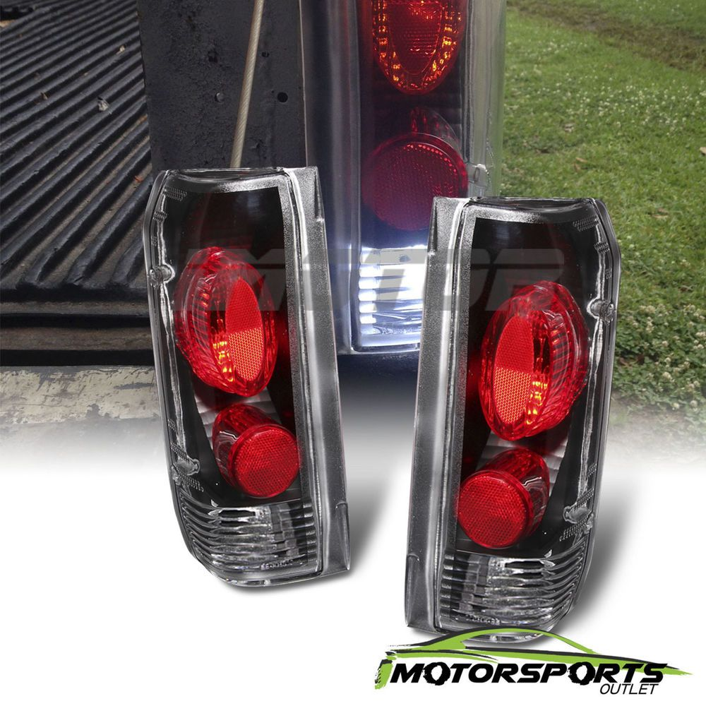 Factory Style 1989 1996 Ford F150 F250 F350 Bronco Black Tail Lights Pair Voodoo F150 Ford F150 Custom Best Car Insurance