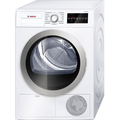 Bosch 500 Series 24 In 4 Cu Ft 240 Volt White With Silver Accents Electric Ventless Compact Dryer Energy Star Wtg86401uc The Home Depot In 2020 Electric Dryers Ventless Dryer Compact Washer And Dryer