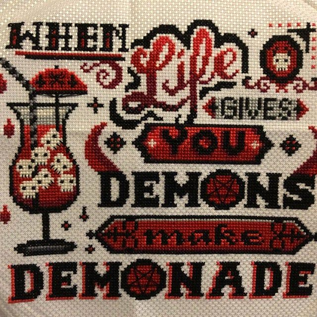 Photo of Ouija – Hail Satan Hail Yourself – Occult Cross Stitch Pattern ~ Gothic, Satanic, Funny, Halloween, Spirit Board, Pentagram, Baphomet