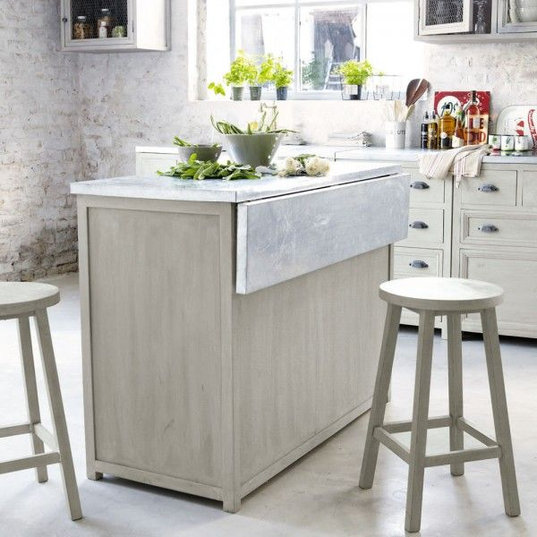 Cuisine avec lot central 43 id es inspirations - Meuble cuisine avec table escamotable ...