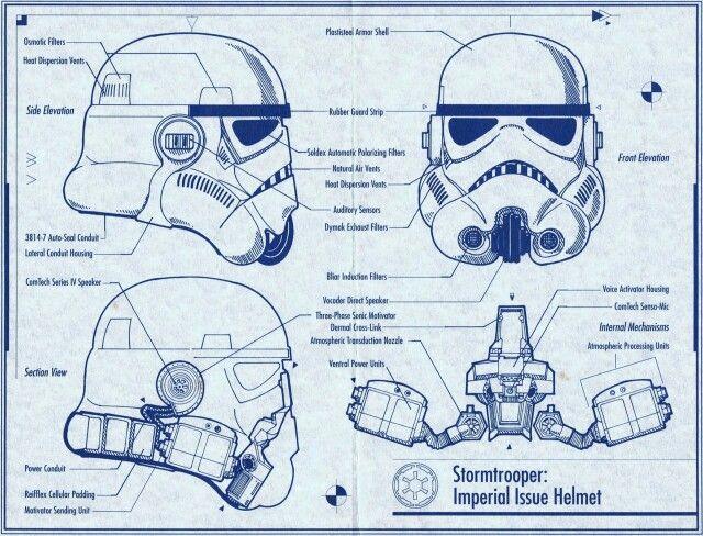 Stormtrooper Helmet Blueprint Star Wars Pinterest - fresh blueprint diazo paper