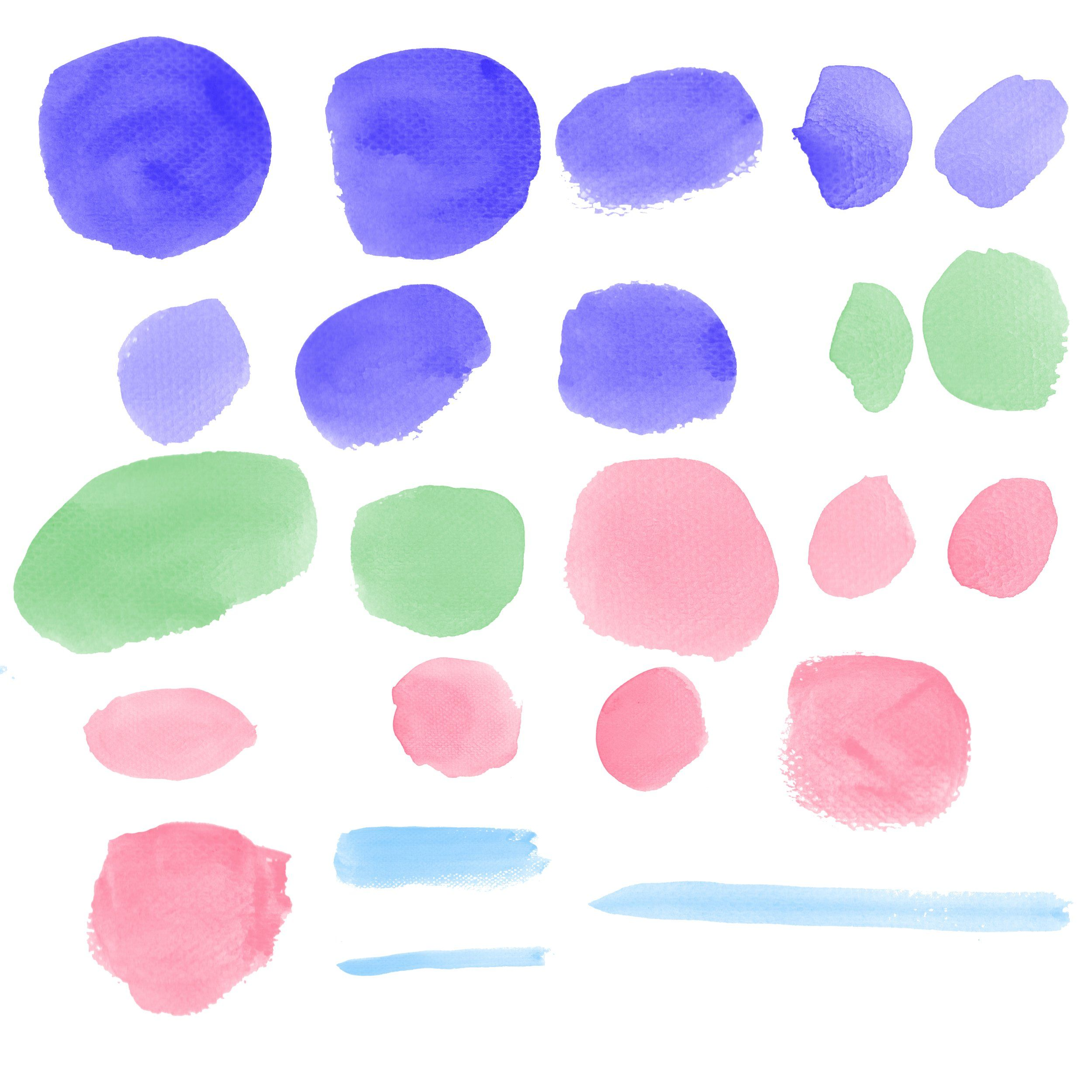 40 Water Color Brushes For Photoshop Photoshop Brushes