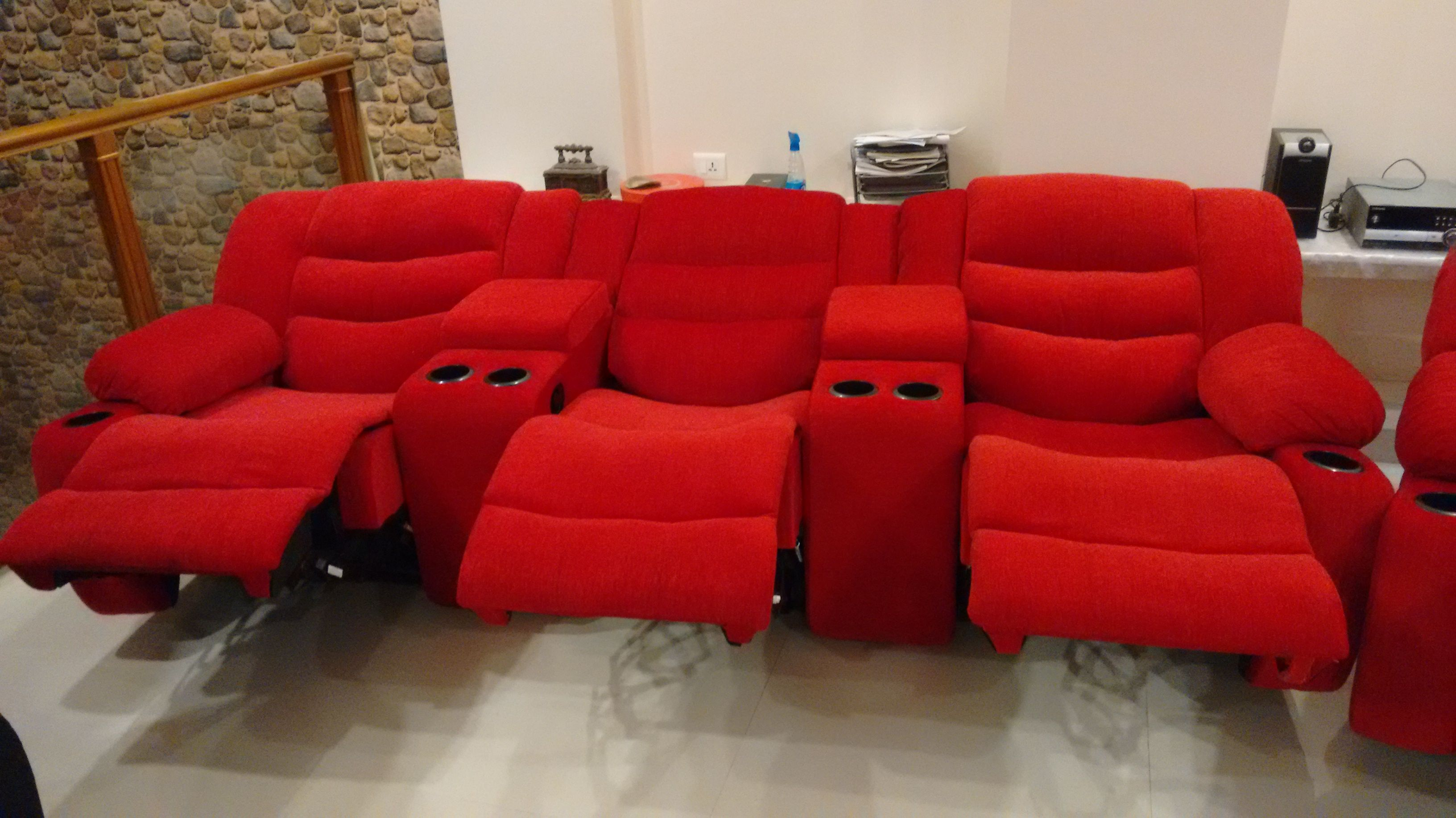 Factory Outlet Srivay Recliners Sofas Is The Best Place To Prices Starting From 8000 Inr Manual Motorised Features Cup Holders