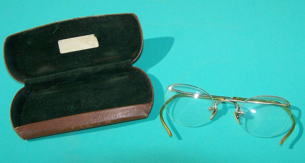 Antique Vintage Wire-Rim 1/10 12k Gold Filled Glasses Eyeglasses ...