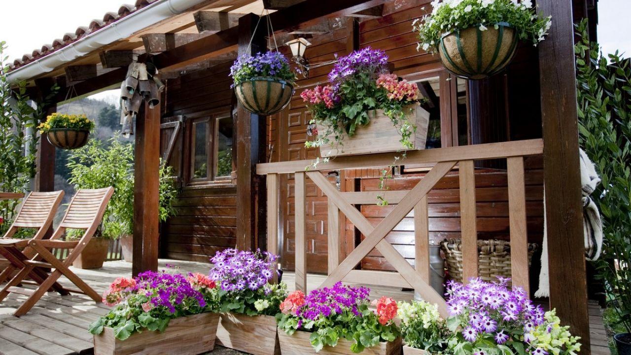 Caba a de ensue o jardines rusticos pinterest for Cabanas de jardin
