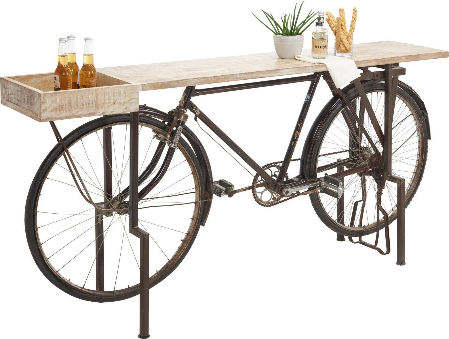 konsole aus massivholz & metall online finden | deko fahrrad