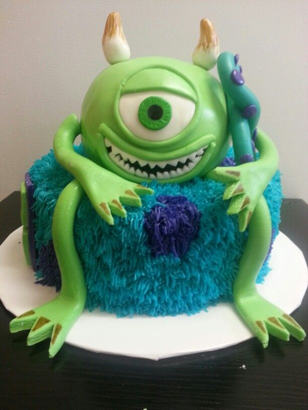 Monster Inc Birthday Cake My Cakes Pinterest