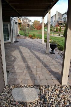 Walkout Basement Patio Under Deck Landscaping Brick Patterns Patio Outdoor Patio