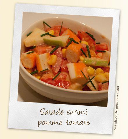 Salade de surimi pomme-tomates | Cahier de gourmandises