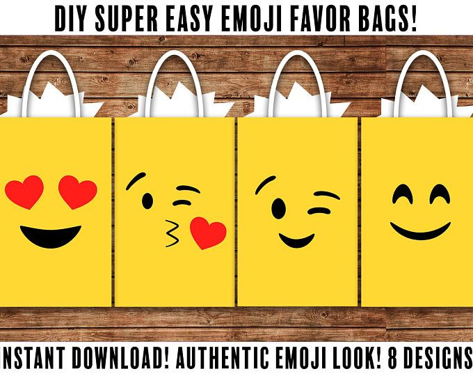 DIY Emoji FAVOR BAGS