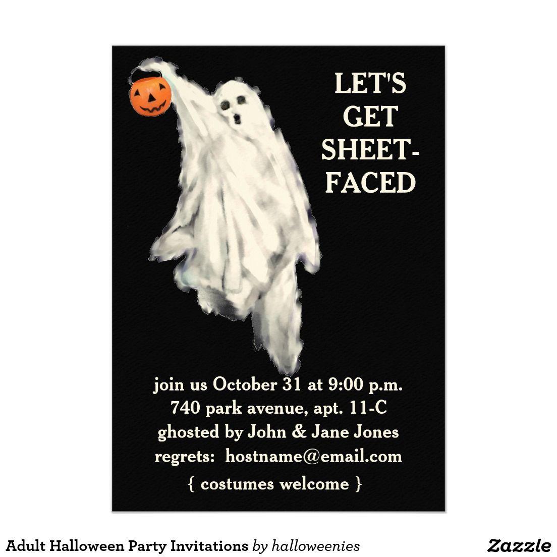 Adult Halloween Party Invitations   Halloween Party   Pinterest ...