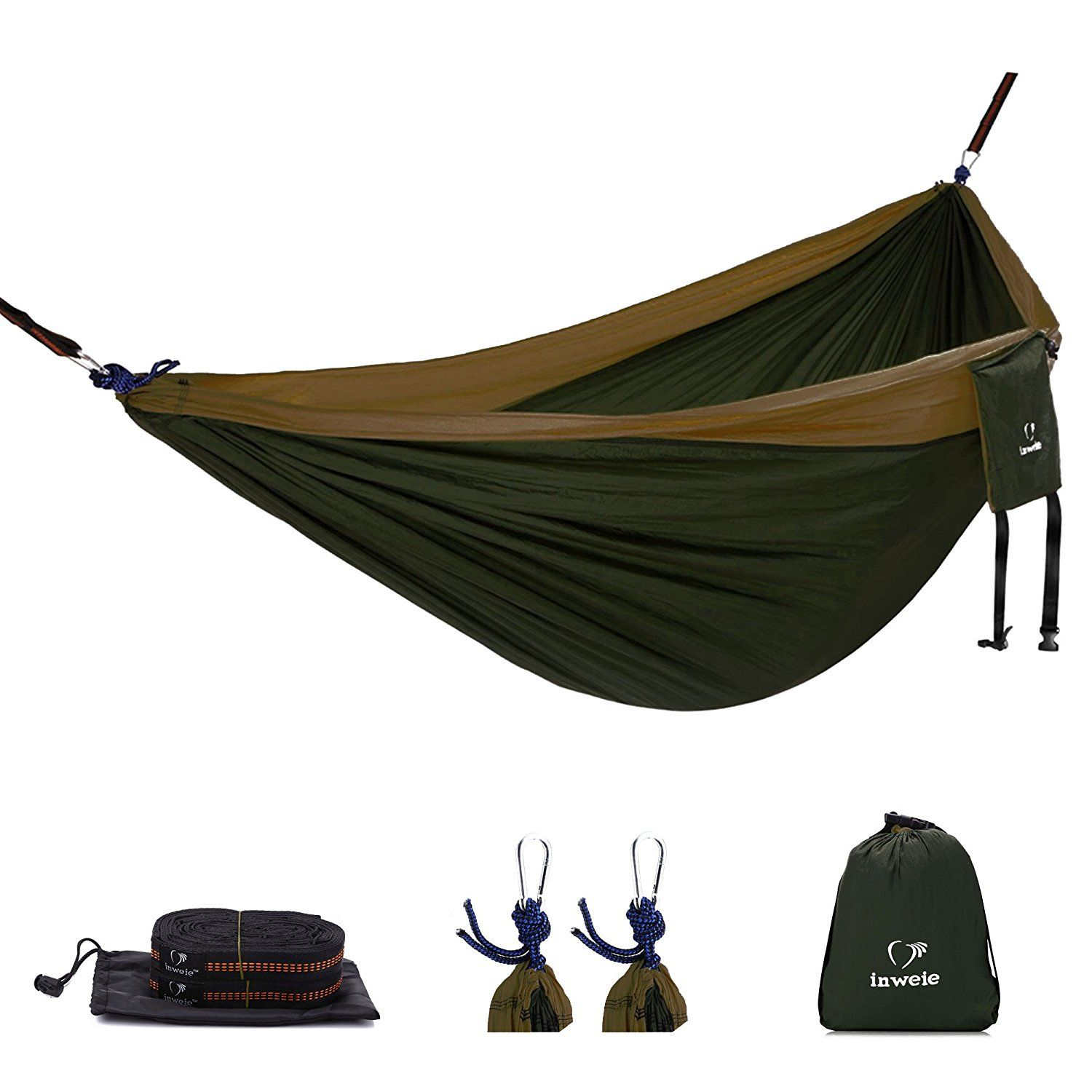 double camping hammock with hammock straps and steel carabiners   10 ft outdoor lightweight portable nylon double camping hammock with hammock straps and steel carabiners      rh   pinterest