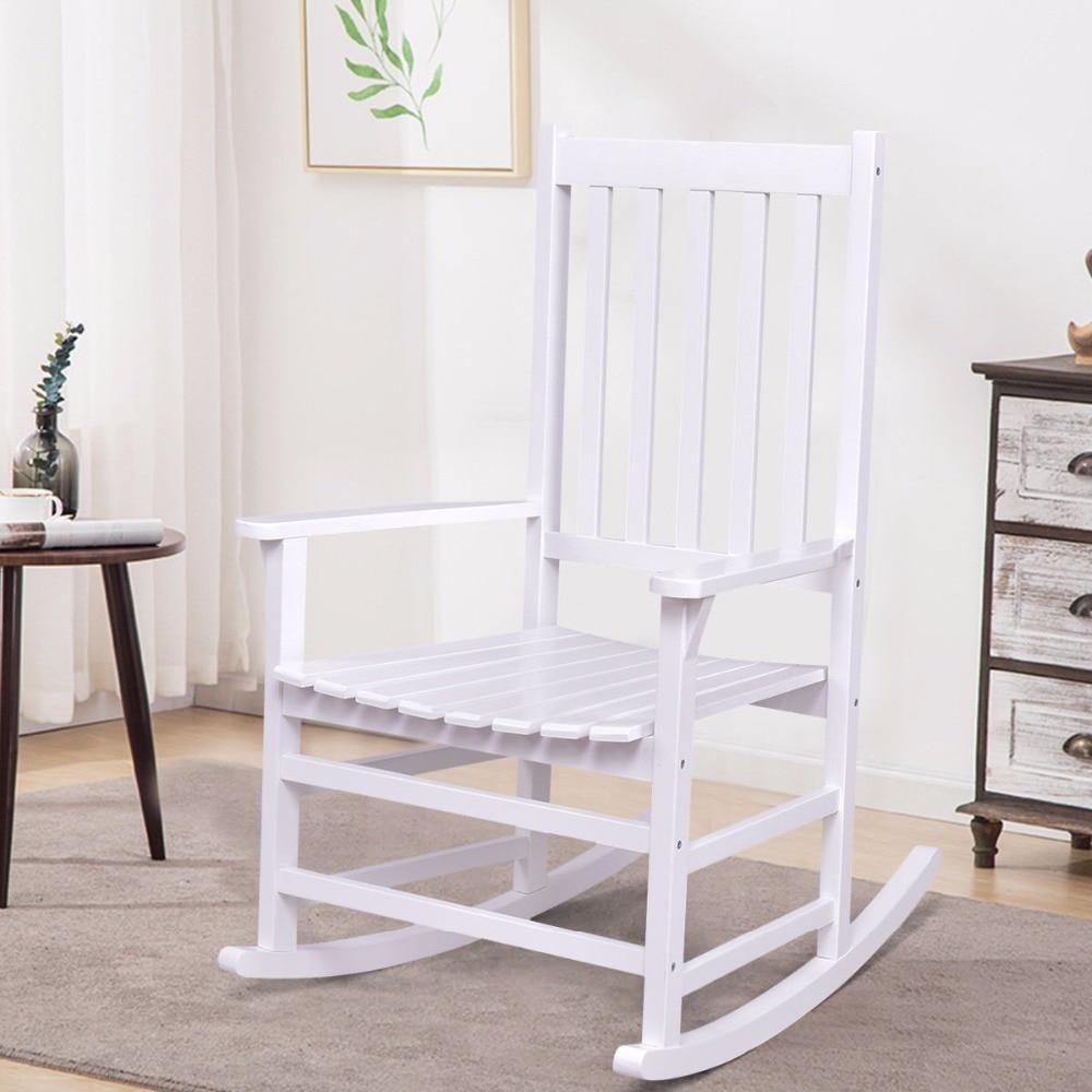 Solid Wood Rocking Chair Rocker Porch Indoor Outdoor Patio Furniture