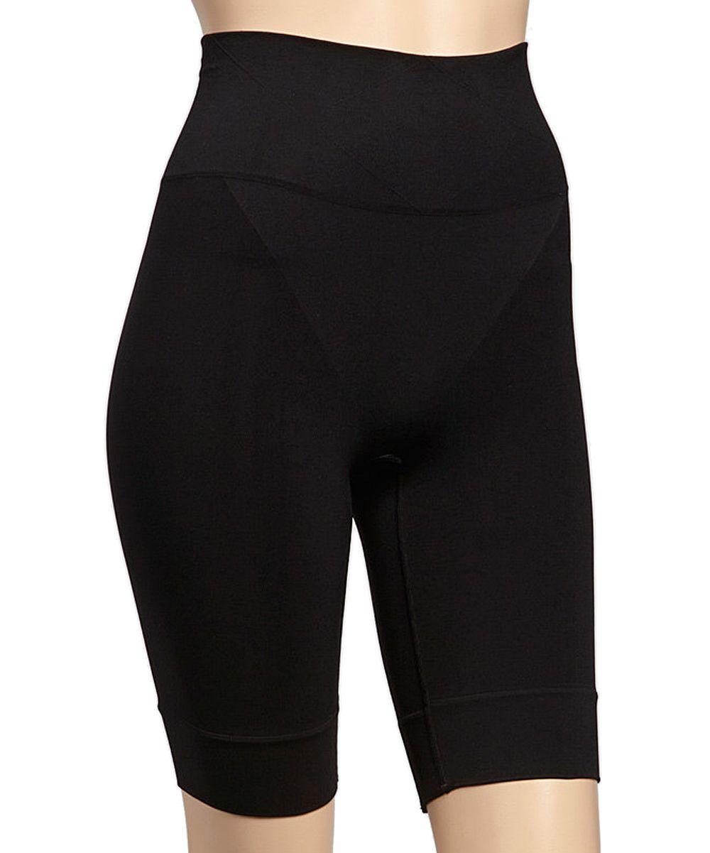 f317eff31d Black Firm Compression Seamless Thigh Shaper Shorts