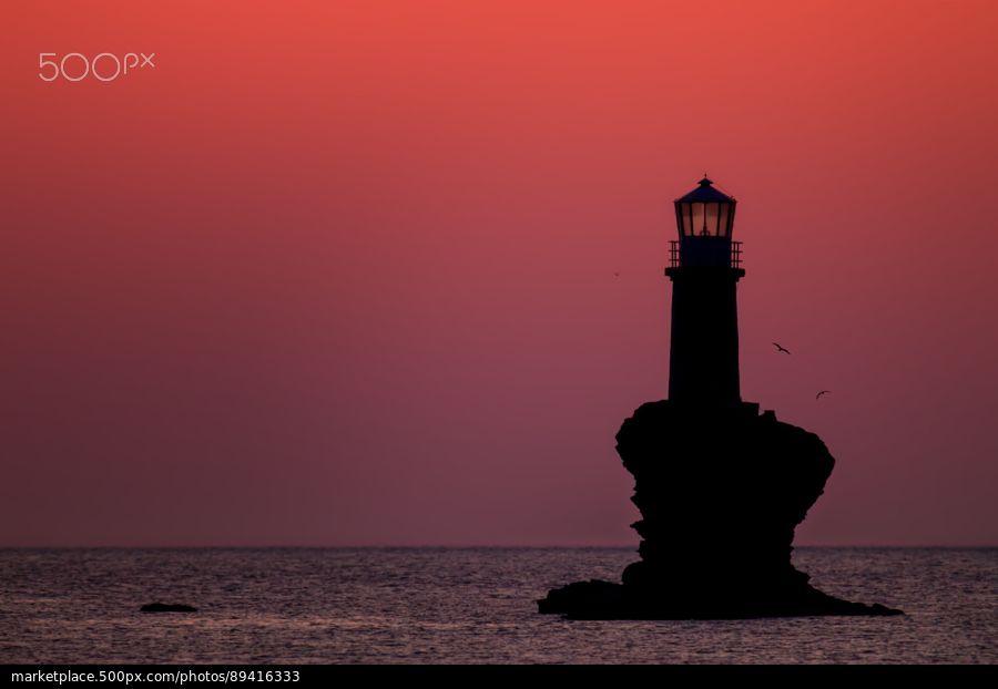 Lighthouse Tourlitis - stock photo