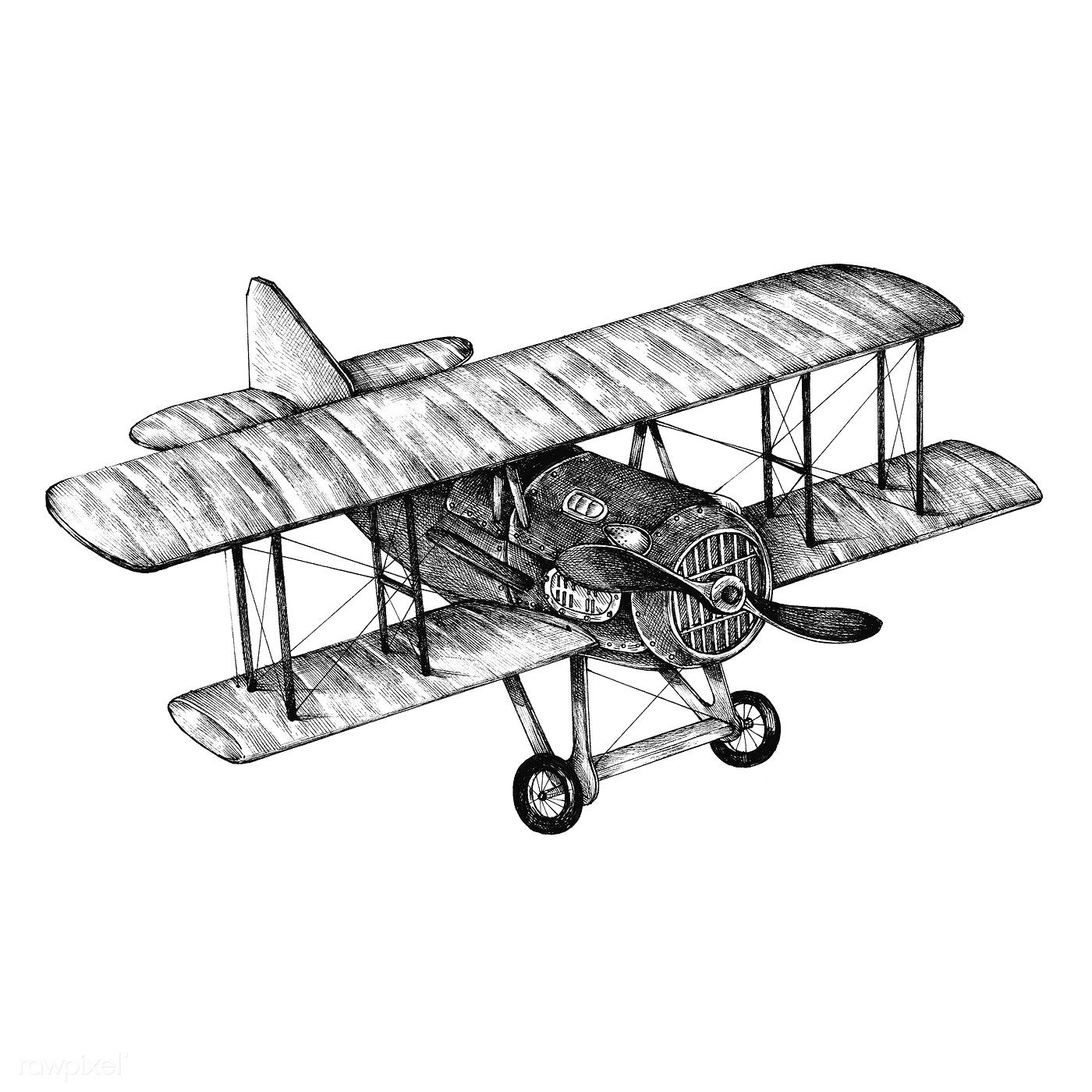 Hand Drawn Atr Plane Isolated On Backgrond Free Image By Rawpixel Com Vliegtuig
