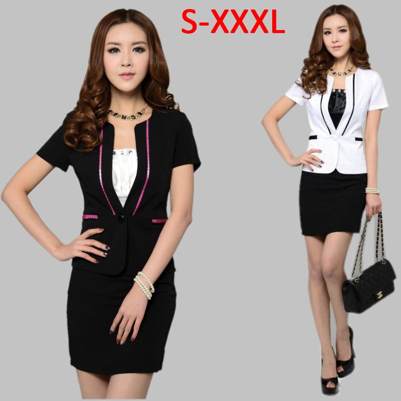 Women Business Suit Formal Office Ladies Clothes Uniform Suits For