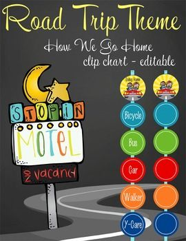 road trip clip chart going home ms word editable road trip rh pinterest com home ms word 2010 Microsoft Word