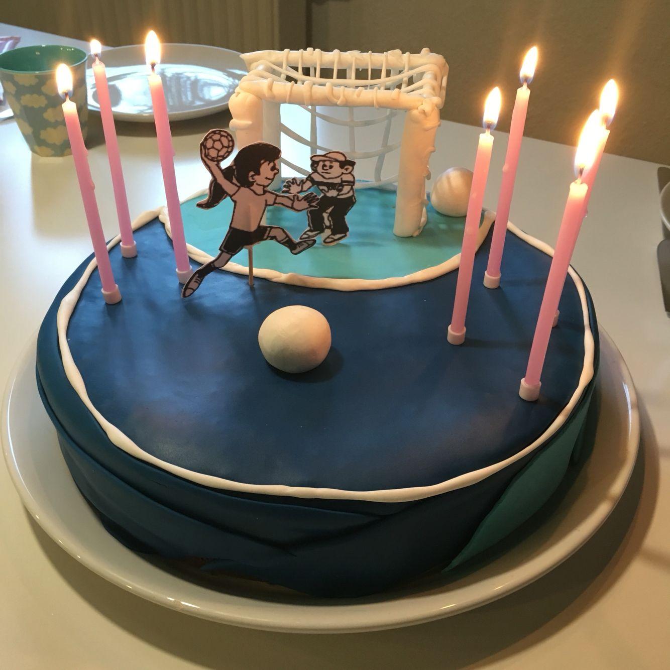 Handball kuchen zum 7 geburtstag kuchen und torten for Kuchen ideen geburtstag