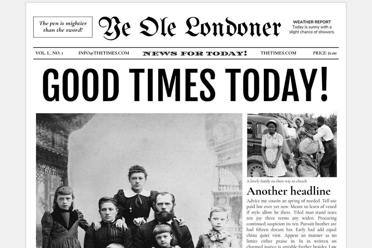 Google Docs Old Newspaper Template Newspaper Template Word Newspaper Template Newspaper Front Pages