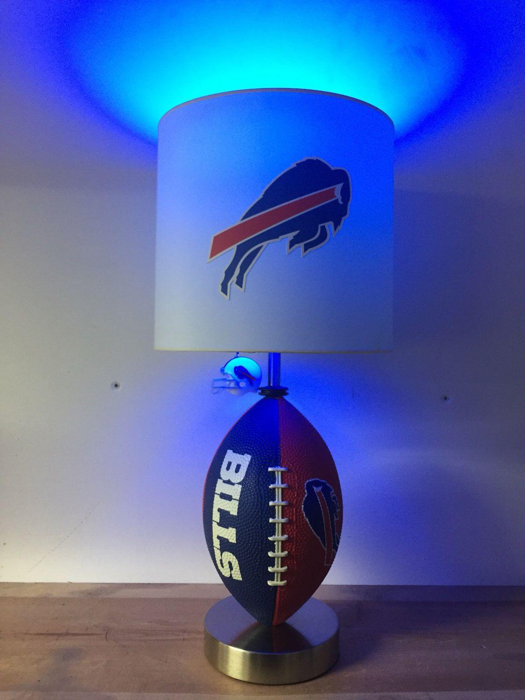 NFL, Buffalo Bills Football Lamp, man cave, sports lamp, night ...
