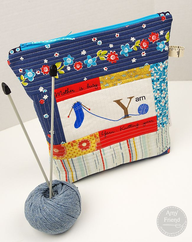 Fusible Fleece Knitting Project Bag Bag Tutorials And Sew Bags