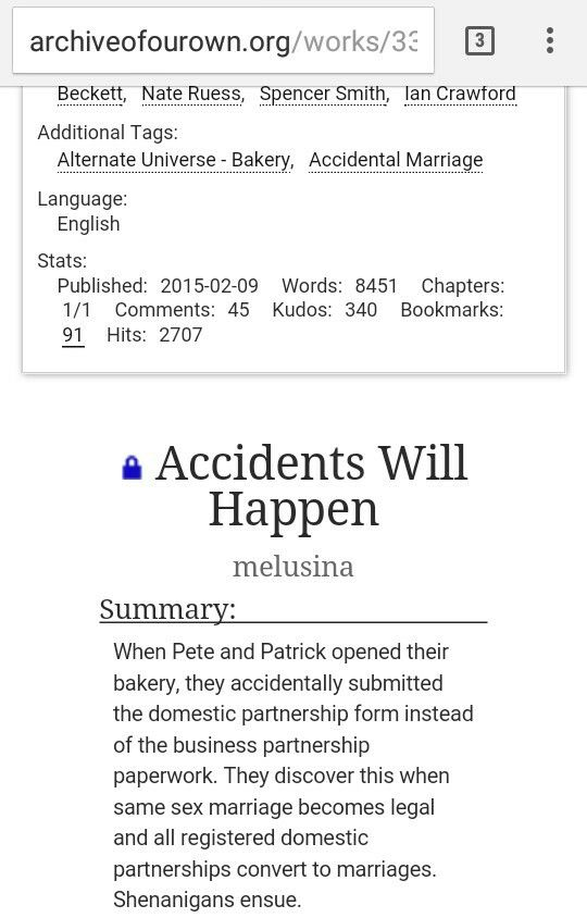 Pete and Patrick run a bakery together They accidentally become - domestic partnership agreement