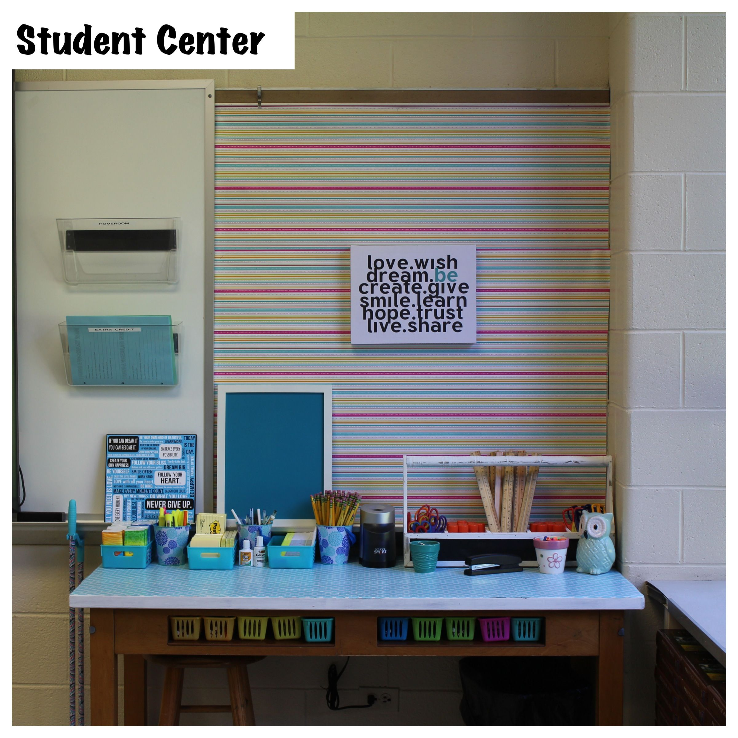 Science Classroom Design Ideas: My Well Organized Student Center In My 8th Grade Classroom