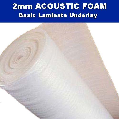 ACOUSTIC White Foam Laminate Engineered Wood Floor Underlay 2mm Insulation Eco