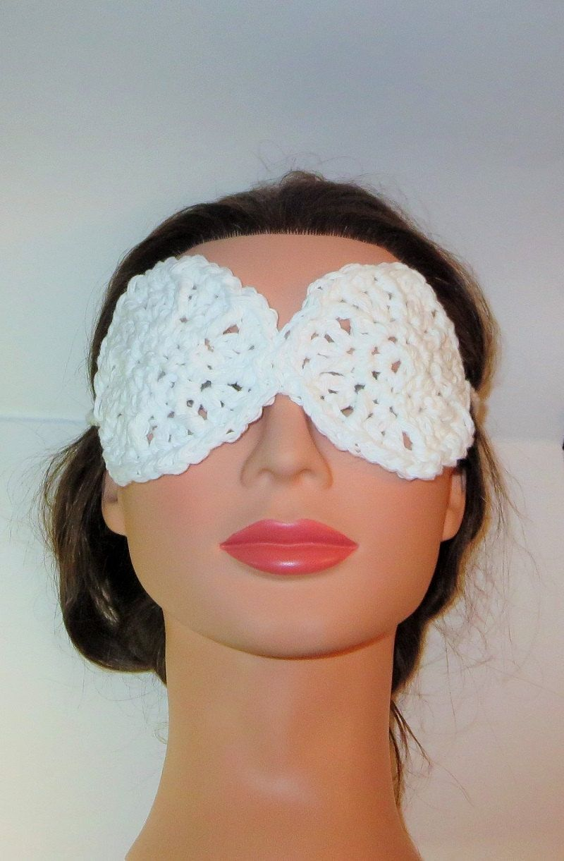 Eye Masks, Crochet Cotton Sleep Masks, Tanning Masks, Beach Mask, Poolside Mask, Cotton Accessories by TiStephani on Etsy
