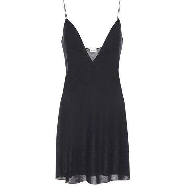 Saint Laurent Silk Dress 920 Liked On Polyvore Featuring Dresses Black Silk Dress Yves Saint Laurent Dr Silk Dress Short Silk Cocktail Dress Silk Dress