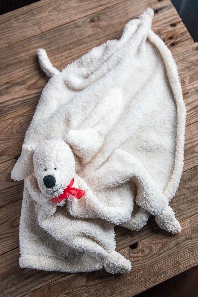 Es fácil coser una manta peluche en forma de perro para un bebé o un ...