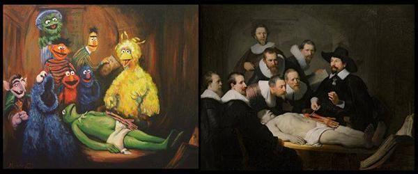 Adaptación del cuadro Rembrandt \