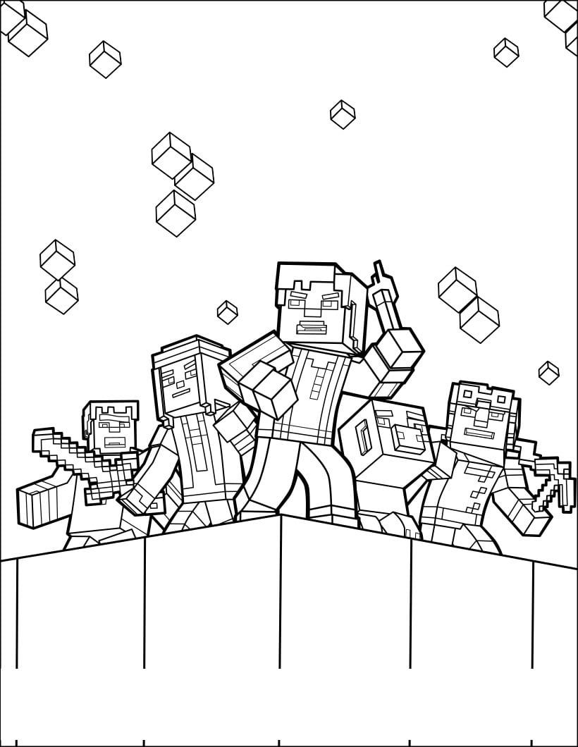 Minecraft Coloring Pages Print Them For Free 100 Pictures From The Game Minecraft Coloring Pages Pokemon Coloring Pages Lego Coloring Pages