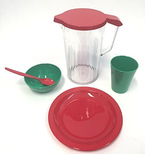 Children S 34 Piece Colour Themed Party Tableware Pack Red Green Harfield Http Www Amazon Co Uk Dp B012nn4eus Ref Cm Sw Party Tableware Red Green Tableware