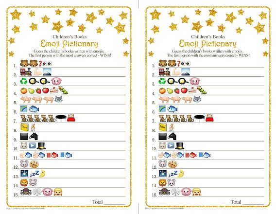 children s books emoji pictionary game with whimsical gold