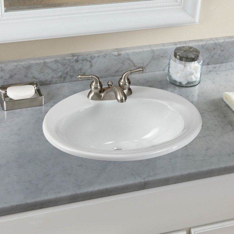 Toto Lt401 4 01 20 3 8 Oval Drop In Bathroom Sink With Three