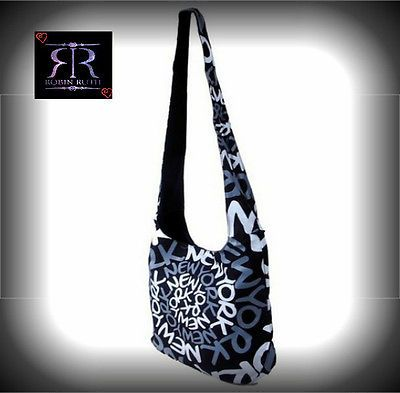 45c9a3be6cf1 Robin Ruth New York Neon Black   Gray Rainbow Spiral Designer Canvas Sling  Bag on sale
