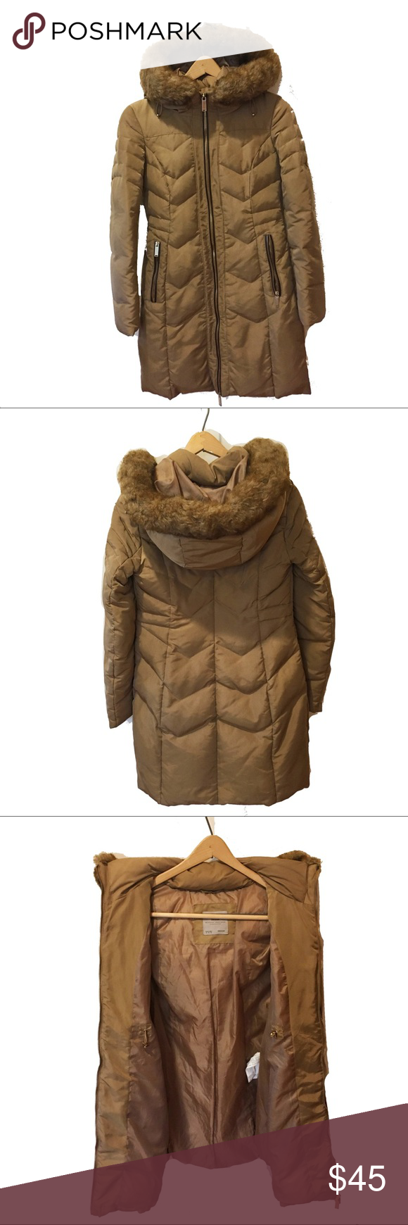 Zara Winter Down Coat Tan Down Feather Fill Puffer Jacket In A Tan Brown Color With A Faux Fur Lined Hood Good Used Conditio Zara Winter Tan Woman Down Coat [ 1740 x 580 Pixel ]