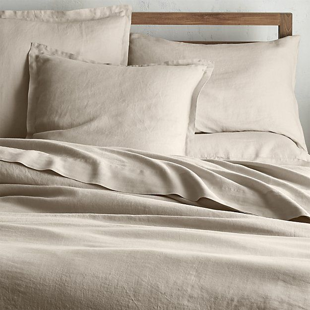 To go with a complimentary quilt.... Lino II Flax Linen King Duvet Cover | Crate and Barrel