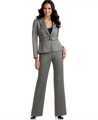 grey pantsuit | Suits / Vestits jaqueta | Pinterest | Women's pant ...