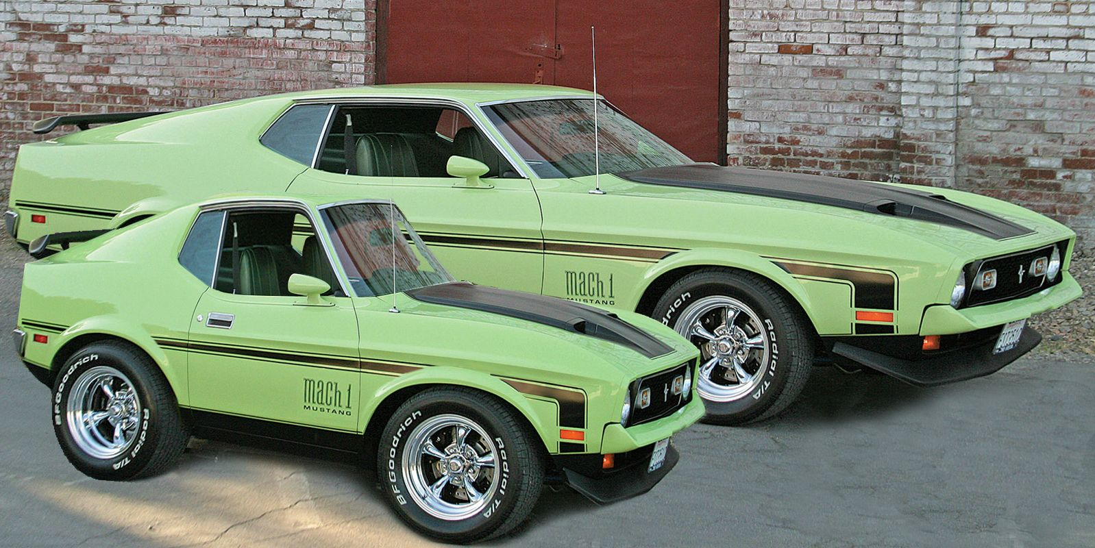 1971 Ford Mustang Mach 1 And Baby Smart Car Body Kits Smart Car Cute Cars