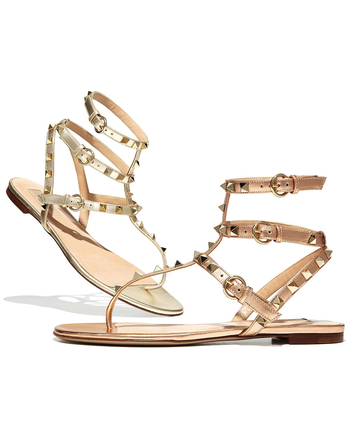 Valentino Rockstud Ankle-Wrap Thong Sandal | @annax