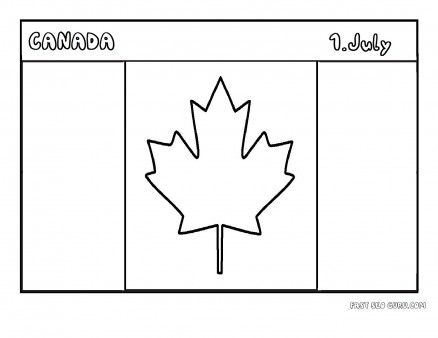 Free printable flag of canada coloring page for kids for Free printable flags of the world coloring pages